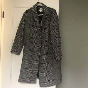 Gap wool houndstooth long coat, Size Small